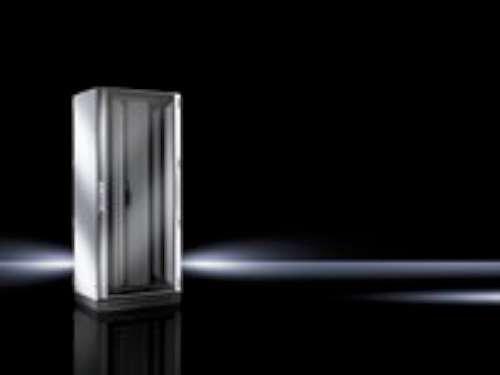 RITTAL Netzw-/Serv.schrank TS IT 800x2000+100x800mm 42HE vormont. Alum.-Sichttuer vorn Stahlbl.tuer geschlossen hinten vert. geteilt (/ Vorn Stahl Hinten)
