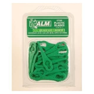 Alm Qt028 Qualcast Easi-Lite 28/30 Bosch Lawnmower Plastic Blades X 20Pk