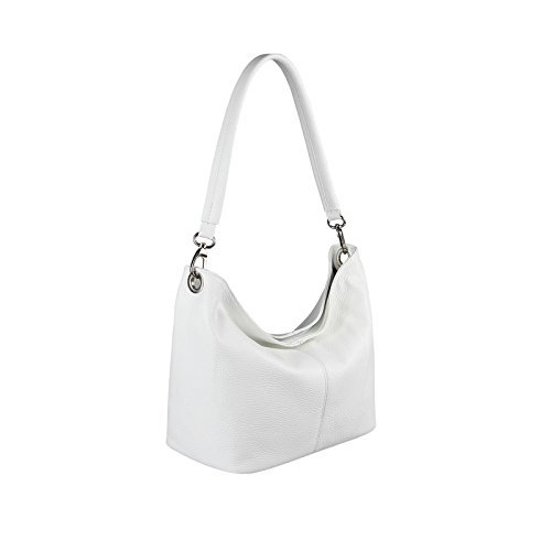 OBC Only-Beautiful-Couture, Borsa a spalla donna argento argento 37x24x13 cm (BxHxT) Bianco V1