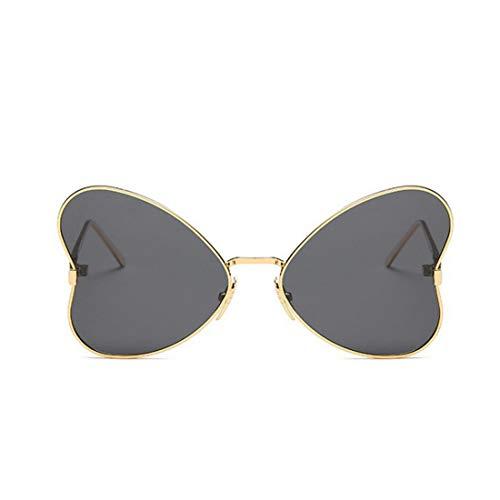 127000b7e4 FUBULECY Mariposa Gafas de Sol con Estilo para Las Mujeres Marco de Metal  Irregular Gafas de