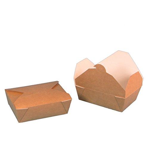 450 Bio Foodboxen Snackboxen Pastaboxen Lunchboxen braun weiß fettdicht Recycling+Frischfaser 100{693fb53c5ff419bf1bfbef0eb5e5719c599beffd31d32fb8191b3ed073803cfa} biologisch abbaubar verschiedene Größen zur Auswahl (125x100x50mm)
