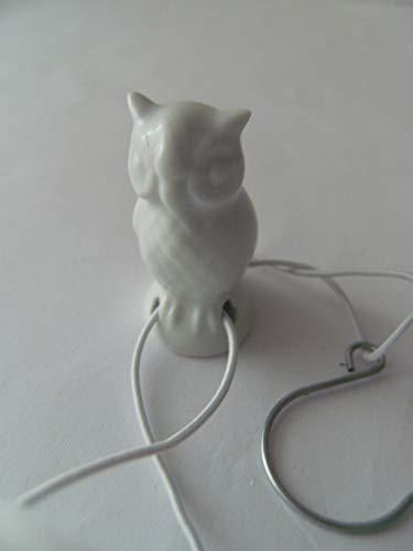 Lindner Porzellan Tropfenfänger Schleiereule, weiß, für Kaffee- oder Teekannen, Tier Eule Vogel