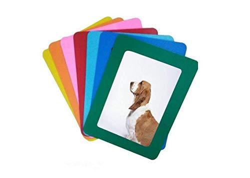 leoyoubei Magnetische Foto Bild Rahmen und Kühlschrank Magnete, magnetische Bilderrahmen Collage Rahmen für Kühlschrank, 7-color 7Pack, PVC, mehrfarbig, 3.5x5
