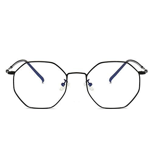 WULE-RYP Polarisierte Sonnenbrille mit UV-Schutz Polygonal Metall Brillengestell Optische Brillen Nicht verschreibungspflichtige Brillengestell für Damen. Superleichtes Rahmen-Fischen, das Golf fährt