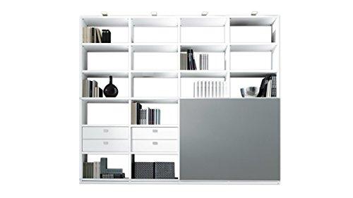 Regalwand mit Schiebetür ein modernes Wohnzimmermöbel mit Stil