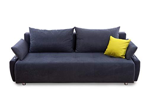 100873 Gioco Schlafsofa, Stoff, Anthrazit, 96 x 212 x 84 cm