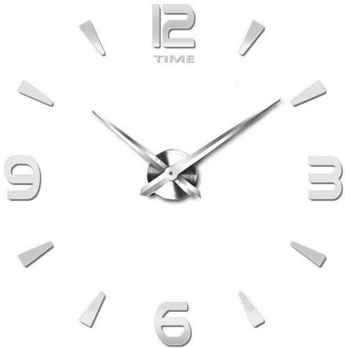 Vangold DIY Reloj pared sin marco espejo grande 3D