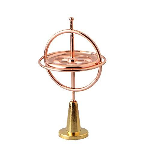 Giroscopio aliviar el estrés dedo Juguetes dedo Gyro aleación de zinc Diversión Gyro juguete descompresión de fábrica al por mayor de metal creativo giroscopio (de oro rosa)