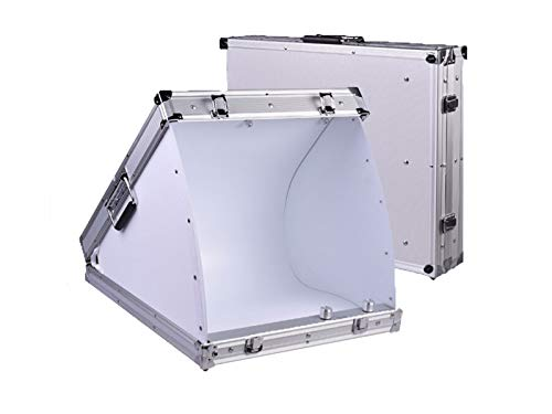 NiceFoto® | Fotobox »BeamBox LED« im stabilen Alukoffer mit LED-Beleuchtung; professionelles kompaktes & mobiles Fotostudio; Maße ca.: 80 x 60 x 12 cm