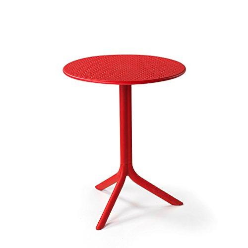 Gartentisch / Bistrotisch Step Mini Kunststoff rot Ø60,5cm