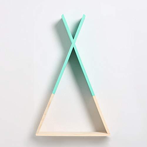 Mensole triangolari in stile semplice e creativo, da appendere alla parete, ideale come decorazione per la casa o per l'ufficio taglia libera green
