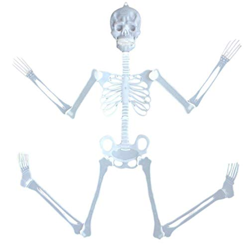 happy event Halloween 35cm Leuchtend Totenkopf Skelett Körper Gruseliges Spielzeug Spukhaus Tricky Prop | 35cm Luminous Skull Skeleton Body Scary Halloween Toy Haunted House Tricky ()