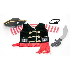 Dramatic M & D Pirate Costume Role Play Set - Be Ready For Adventures On The High Seas