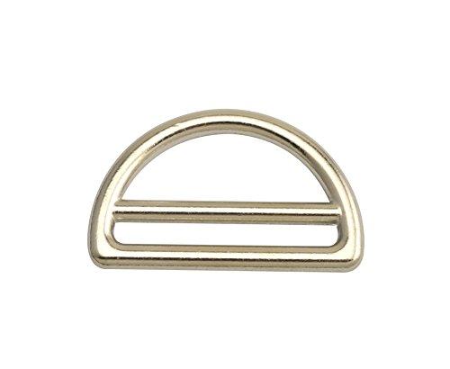 Doppel Schnalle-tasche (wuuycoky Zink Legierung Silber Doppel Bar D Ring Schnallen D-Ring für Gurtband Umreifung Größe Optional Inner Diam:1.5