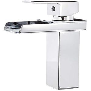 AmazonBasics – Mezclador de grifo de cuarto de baño moderno, cromo pulido