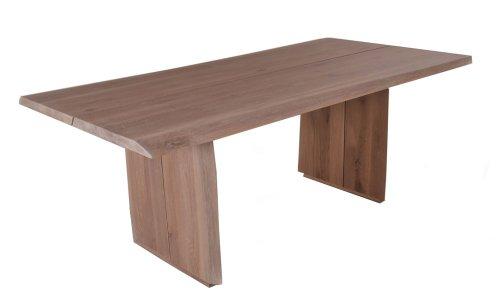 SAM® Esszimmertisch mit Baumkante 180 x 100 cm OAK TREE Eichenholz Holz Eiche massiv robust natürlich pflegeleichter Baumkantentisch