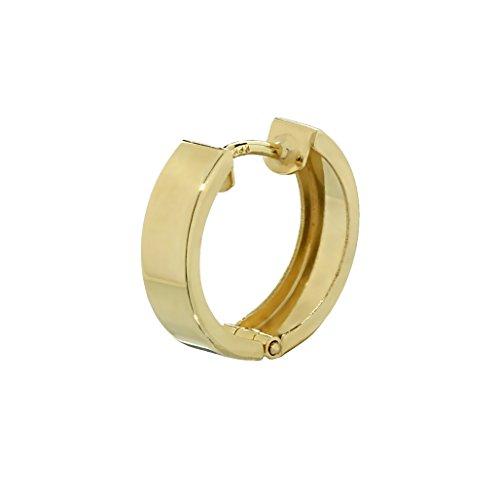 NKlaus Single 333 Gelbgold Klappcreole Ohrring 12,4 x 3,2mm glänzend Quadratisch 4746