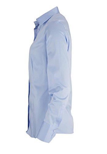 Eterna Chemisier à Manches Longues Slim Fit Uni bleu clair