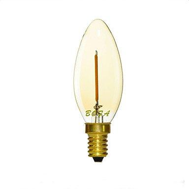 FDH E12 E14 E26 E27 2200K-3000K 50-100Lm 110V 220V 1W 1LED regulable imitación Retro Filamento luz,Velas LED blanco cálido.
