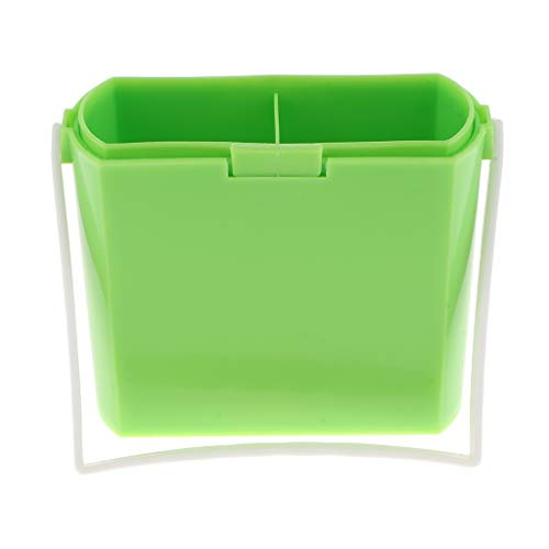 Homyl 3 in 1 Brush Washing Bucket Multifunction Wash Pen Barrel Brush Washer Cleaner Art Supplies with Three Water Wells