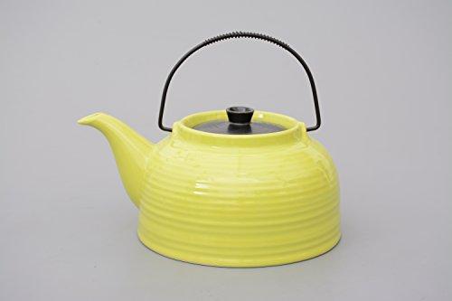 Teekanne / Kanne Nelly 1,5l grün/schwarz mit Stahlsieb (Kanne grün, Deckel schwarz) China Tee-set Für Zwei