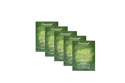 Extasialand Fastwet® Cannabis Gleitgel 5x 4ml Sachets Gleitmittel auf Wasserbasis mit Hanföl - wasserbasiert mit viel Gleitfreude und waterbased Lube
