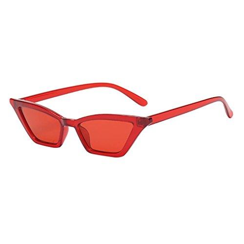 Makefortune Frauen Sonnenbrillen, Frauen-Weinlese-Katzenaugen-Sonnenbrille-Retro- kleiner Rahmen UV400 Eyewear arbeiten Damen-Gläser um (C)