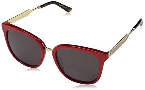 Gucci Damen GG0073S-004 Sonnenbrille, Rot (Rojo/Dorado/Havana), 55
