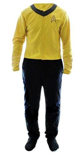 Star Trek Gold Uniform Onesie Footie Pajama