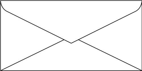 SIGEL DP061 Briefumschläge weiß, DIN lang, 50 Stück, gummiert
