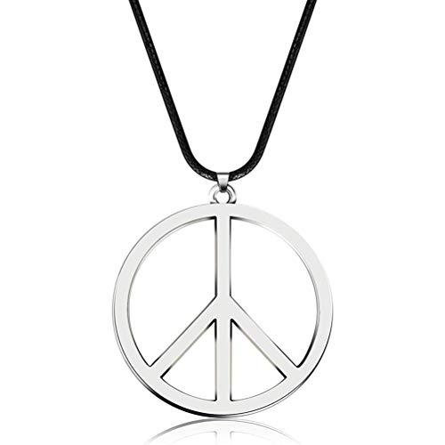 Hippie Dressing Zubehör, Metall Peace Sign Anhänger 1960er Jahre 1970er Jahre Hippie Party Zubehör Halskette -