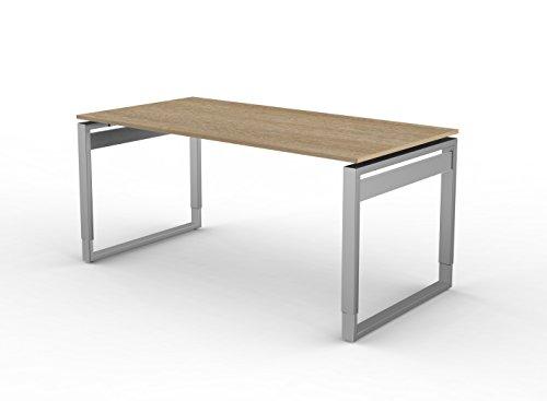 Kerkmann 4081da scrivania forma 5, cinghia tracolla della struttura in grigio chiaro