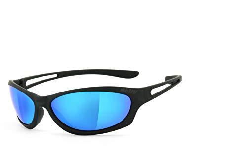 Helly® - No.1 Bikereyes® | H-FLEX®- unzerbrechlich, UV400 Schutzfilter, HLT® Kunststoff-Sicherheitsglas nach DIN EN 166 | Bikerbrille | Brillengestell: schwarz matt, Brille: flyer bar 3