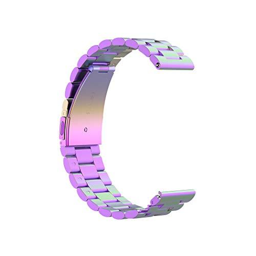 LILICAT Classic Armband Edelstahl-Metallersatzband Band Edelstahl Armband Ersatzband Quarz schwarzen Zifferblat für Herren Damen