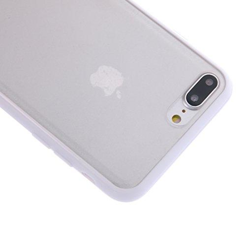 Custodia cover per aplle iPhone 7 plus Per la custodia protettiva in gomma per iPhone 7 Plus Feeling ,Copertura per iPhone 7 plus(2016) ( Color : Blue ) White