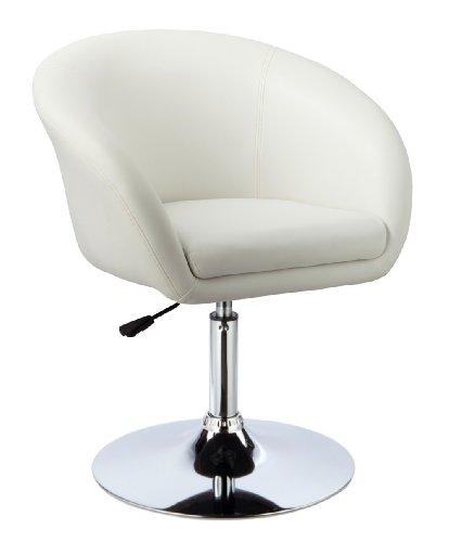 Kronenburg Barhocker Lounge - 360° drehbar und höhenverstellbar in Weiß - Farbwahl - Weißer Barhocker