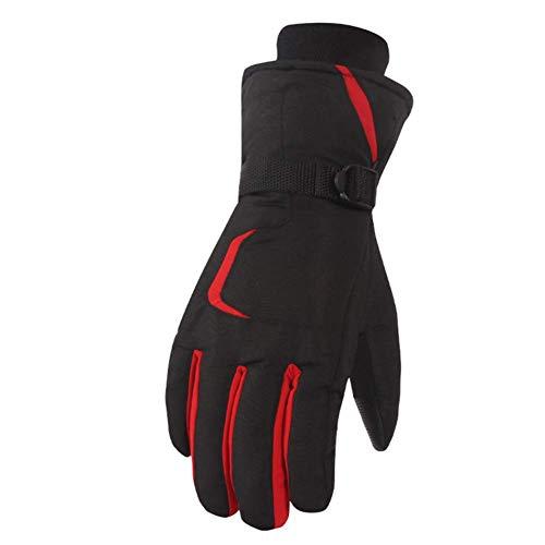 FAMLYJK Winter Ski Handschuhe, Touchscreen Wasserdicht Winddicht Schnee Handschuhe, Warme Handschuhe Männer Frauen,D