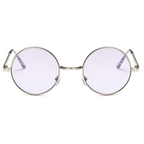 WZYMNTYJ Runde Sonnenbrille Frauen rot gelb blau grün klare Linse Sonnenbrille für Frauen Kleine Sonnenbrillen