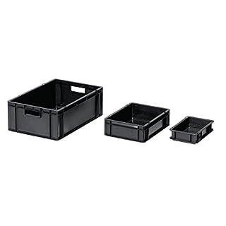 Ing. Alfred Häner GmbH Transport-Stapelkasten L300xB200xH145mm PP leitfähig schwarz Wände u. BD geschl. 8