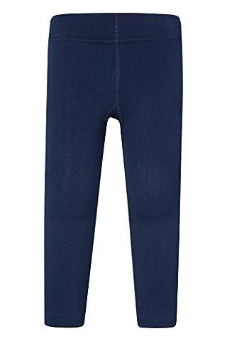 Mountain Warehouse Sous Pantalon Thermique Fille Garçon Leggings Polaire Hiver Bleu marine Large /
