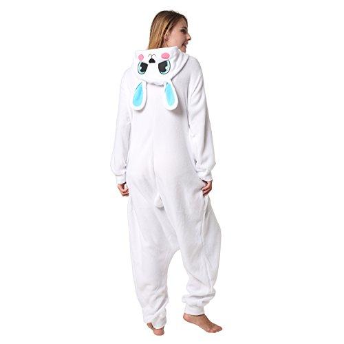 Katara 1744 -Hase blau/weiß Kostüm-Anzug Onesie/Jumpsuit Einteiler Body für Erwachsene Damen Herren als Pyjama oder Schlafanzug Unisex - viele verschiedene Tiere