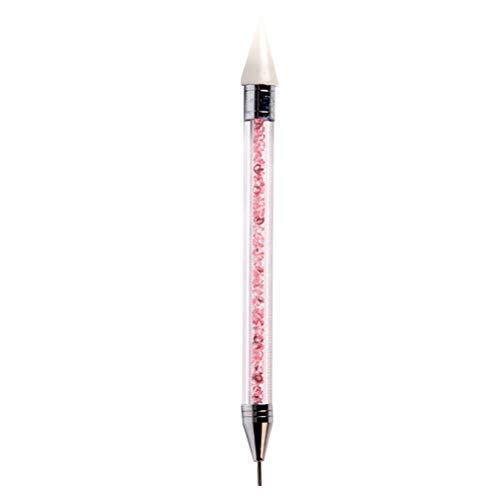 Healifty Nagelpunkt-Stift zum Marmorieren von Nägeln, Doppelseitig, Punktstift, Strass-Nieten, Picker, Wachsstift, Maniküre, Nail Art Werkzeug