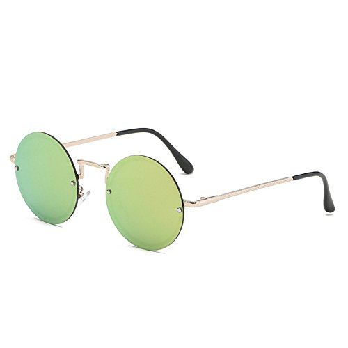 RLJJSH Sonnenbrillen Damen Runde Sonnenbrillen Herren Sonnenbrillen Sonnenbrillen Trend Driving Brillen Metallrahmen Breite 53 mm Sonnenbrillen Sonnenbrille (Farbe : Lila, größe : One Size) (Sonnenbrillen, Aviator 53mm)