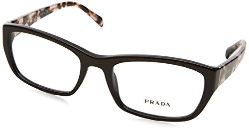Prada Für Frau 18o Dark Brown Kunststoffgestell Brillen, 52mm