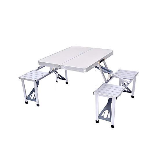MXueei Bureau d'ordinateur ZfgG Table de Pliage extérieure, Alliage d'aluminium Multifonction Portable Table de Pique-Nique et Chaise Pliante