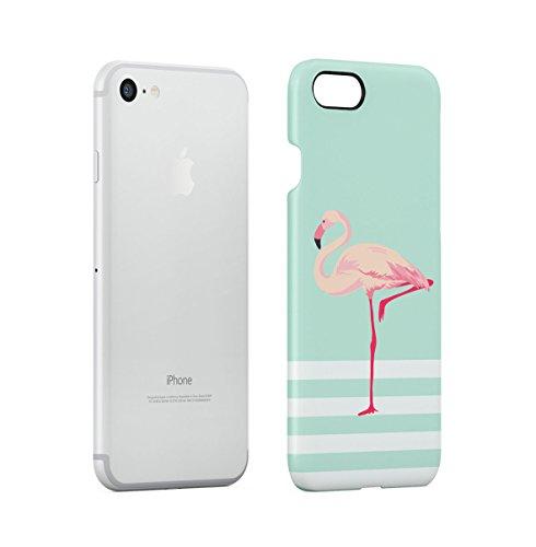 Tropical Hibiscus Flower & Flamingo Birds Pattern Apple iPhone 7 Snap-On Hard Plastic Protective Shell Case Cover Custodia Flamingo Bird