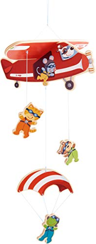 Montieren Holz (HABA 304758 - Mobile Fallschirmspringer, Zubehör fürs Kinderzimmer, mit vielen Tierfiguren, aus Holz, leicht zu montieren, geeignet von Geburt an)