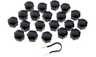 Set von 2021mm schwarz Bolzen Kopf Sechskantmutter Covers Kappen Protectors für KFZ Räder