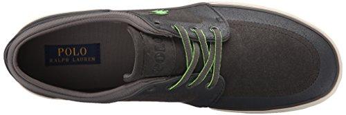 Polo Ralph Lauren Faxon Low Nubuck Fashion Sneaker Charcoal Grey