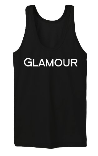 Glamour Tanktop Girls Negro-XL